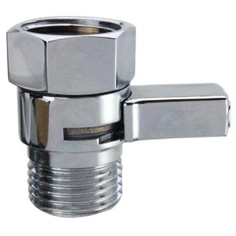 Flow Contol Shut OFF Valve Solid Brass For Shower Head Bidet Sprayer Water Saver Sliver -