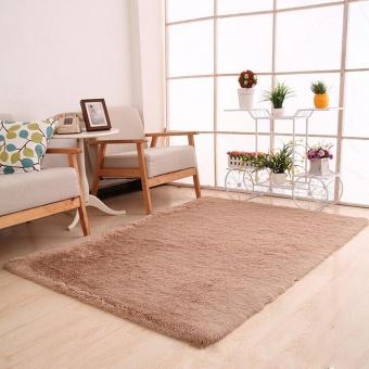 Fluffy Rugs Anti-Skid Shaggy Area Ruang Makan Karpet Kamar Tidur Karpet Lantai Mat Brown