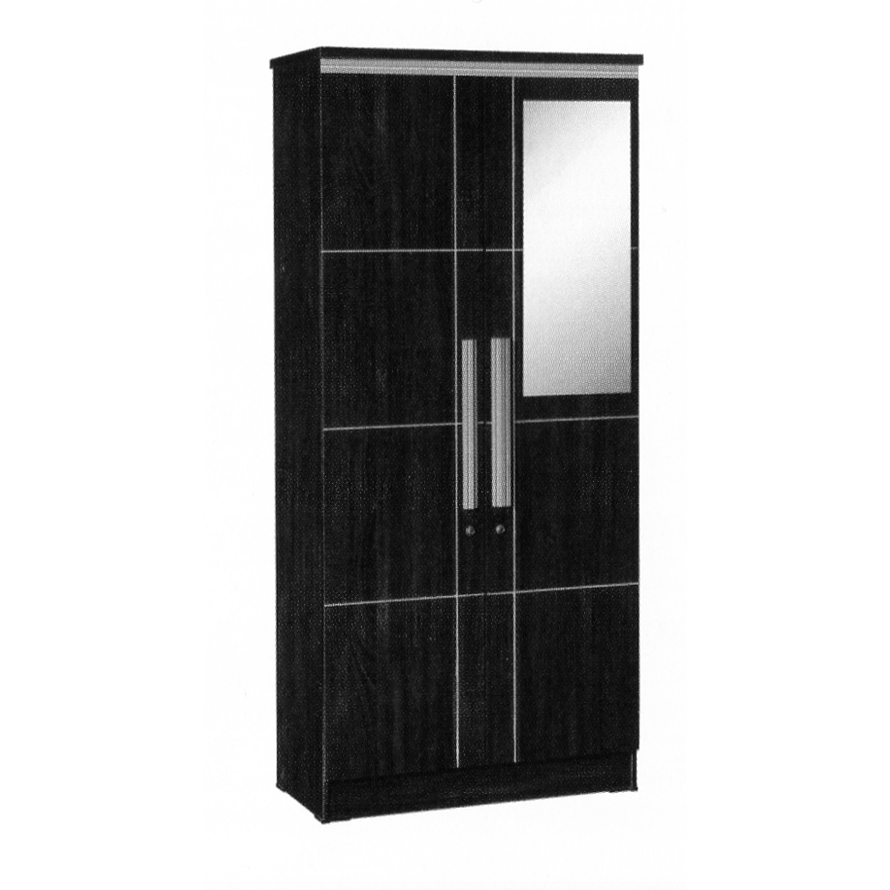 graver furniture lemari pakaian 2 pintu lp 8796