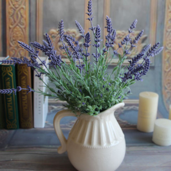 Green Plants Artificial Flower Lavender Leaves Grass Flowers Arrangement
