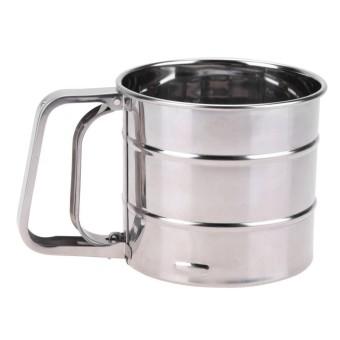 Handheld Tepung Shaker Stainless Steel Mesh Saringan Cup Icing Sugar Bake Tool-Intl