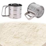 Detail Gambar Handheld Tepung Shaker Stainless Steel Mesh Saringan Cup Icing Sugar Bake Tool-Intl Terbaru