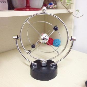 Hiasan Meja Kerja - Pendulum Universe - Kinetik Orbital dengan Battery - unique dan elegan barang