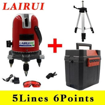 High Precision 5 Lines 6 Points Red Line Laser Level 360 Vertical & Horizontal Rotary Cross Line Lazer Level Tools - intl