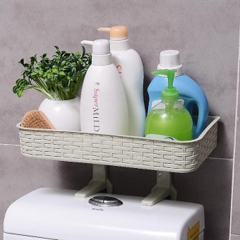 Hot Deals Rumah Penyimpanan Kamar Mandi Holder Shelf Shower Caddy Tool Organizer Rack Basket-Intl