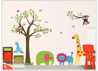 Home Decor Wallsticker Stiker Dinding DF5071 - Multicolor