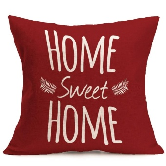 Harga Nordic Style HOME SWEET HOME Printed Throw Pillow Cover Decorative Waist Cushions Case Christmas Gift-Red - intl