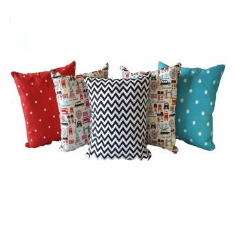 Harga Melia Bedsheet Hello London! Collection Sarung Bantal Sofa [5 pcs]