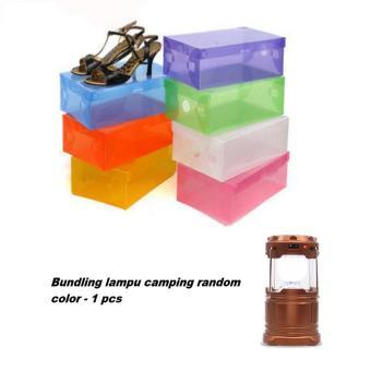 ... Metal dan Sudut Pelindung Plastik . Source · Harga Grosir Station Kotak Sepatu Transparan Warna - Warni Paket Isi 7 Bundling Lampu Camping Random