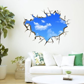 Harga Sky Cloud Creative 3D Wallpaper Room Adornment Bedroom Wall Sticker