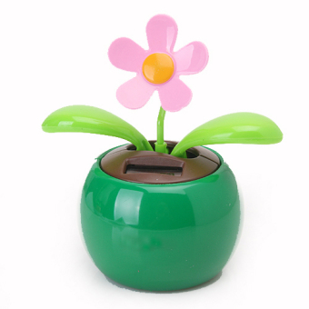 Harga Flip Flap Solar Powered Flower Flowerpot Swing Car Dancing Toy Gift Home Green