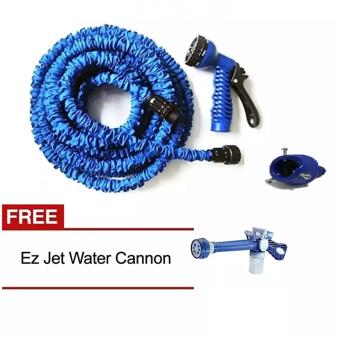 Harga Angel Magic X-Hose Auto Expandable 15 m Connector A - Selang Air Fleksibel - Biru + Gratis Ez Jet Water Canon