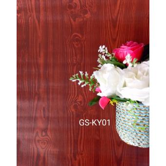 Harga Wallpaper sticker kayu coklat