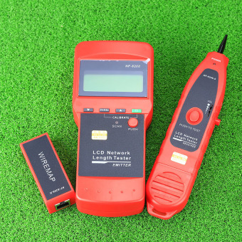Harga CRUISER NF-8208 LCD Display Network LAN Cable Tester Wire Tracker Tracer Length Scanner