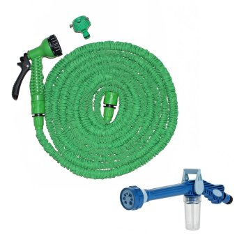Harga Magic X-Hose Auto Expandable 30 m with Connector Type A - Selang Air Fleksibel - Hijau + Ez Jet Water Canon