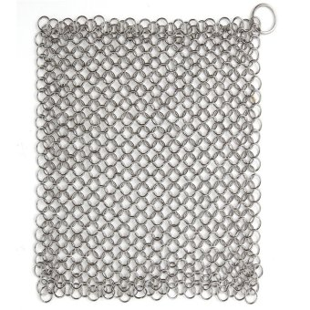 Harga Home Kitchen Tools Helper Ringer Cast Iron Cleaner Stainless Steel Chain Mail Decor (Color: Silver) - Intl