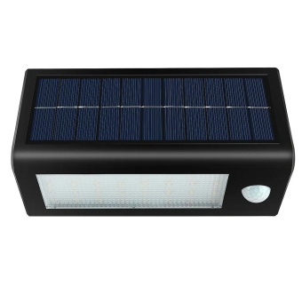 Harga Vanker-New Stylish 32 LED Solar Powered Security Floodlights 400lm Motion Sensor Night Lights Black - intl