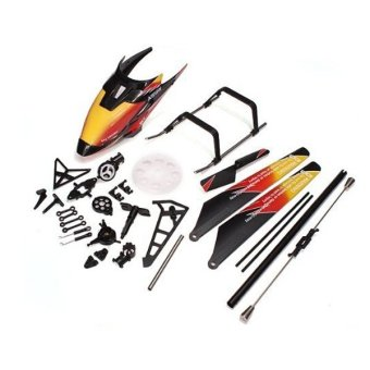 Harga Replacement WLtoys V913 2.4GHz 4CH RC Helicopter Spare Parts Accessories Kit Set Canopy Blades Landing Skid Gear (Orange)
