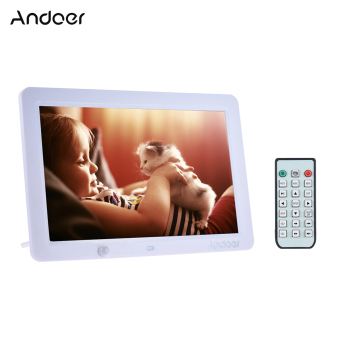 Harga Andoer 12 Inch LED Digital Photo Frame 1280 * 800 Human Motion Induction Detection with Remote Control Support MP3/MP4/Calendar/Alarm Clock Function Christmas Gift - intl