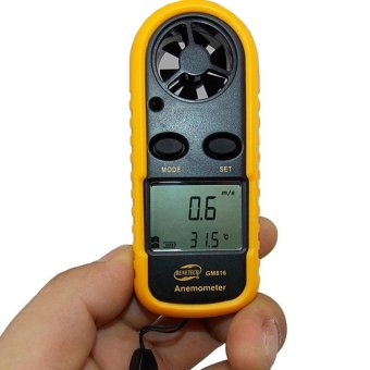 Harga BENETECH GM816 Digital LCD CFM/CMM Thermo Anemometer + Infrared Thermometer For Wind Speed Gauge Meter Temperature - intl