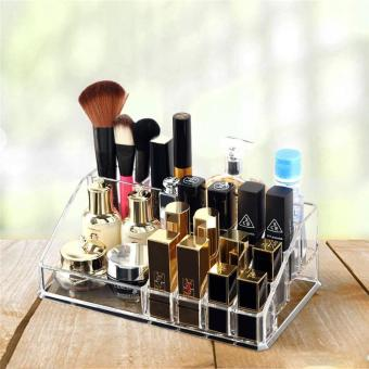 Creative Transparent Acrylic Lipstick Box Cosmetic Storage Box Velcro Lipstick and Other Storage Box - intl