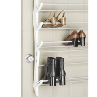 Harga Paling Laku Over the Door Shoe Rack - 18 Pairs - Putih
