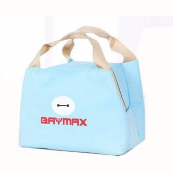 Harga Baymax Lunch Bag Bonus 1pc Jelly Ice Cooler / Cooler Piknik Bag / Kantong Pendingin Makanan - Biru