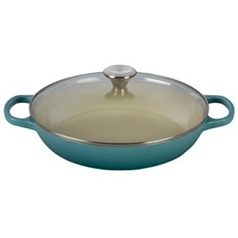 Harga Le Creuset of America Enameled Cast Iron Buffet Casserole with Glass Lid, 3 1