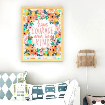 Harga Frame Motivasi Have Courage And Be Kind (A-34)