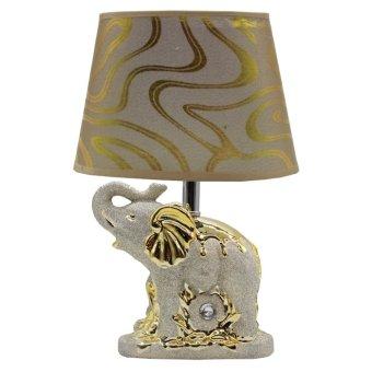 Ruibao Lampu Kamar Tidur Lampu Meja Lampu Samping Tempat Tidur Bergaya Eropa AB99 GOLD
