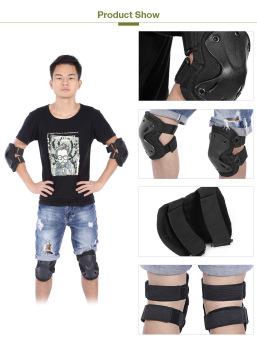 Harga 4pcs Outdoor Roller Elbow Knee Guard Safety Protector(Black) - intl