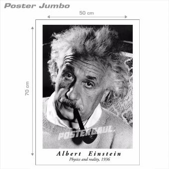 Harga Poster Jumbo: Albert Einstein Physics and Reality #AE02 - 50 x 70 cm