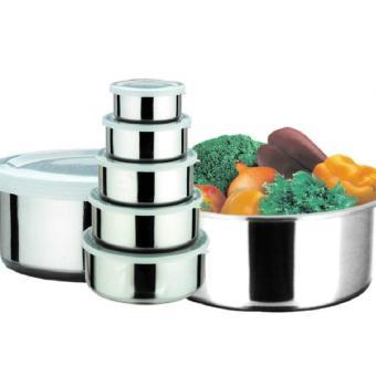 Harga TokoHeri - Protect Fresh Box - Rantang Stainless Steel Wadah Penyimpanan Makanan 5 Susun Dengan Tutup Plastik