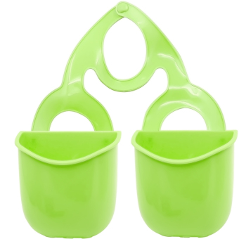 Harga 2 PCS Plastic Kitchen Sink Drain Bathroom Hanging Storage Basket Holder Shelf Organizer Bag for