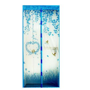Harga ION - Magic Mesh Tirai Magnet Anti Nyamuk Motif Heart And Bird - Tirai Pintu Magnet - Biru