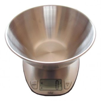 Harga Heles / Harnic Timbangan Kue Digital / Dapur - Mangkok Body Full Stainless Steel LCD Display 0-5kg HL-4350