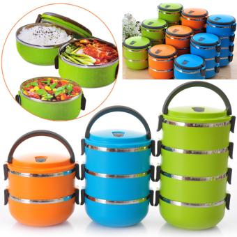 Harga Dinemate Eco Lunch Box Stainless Steel Rantang 4 Susun - Orange