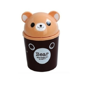Harga Here Mini Dustbin Animal Bear - Cokelat