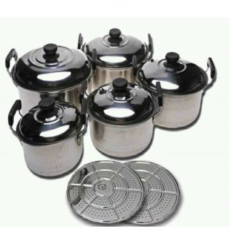 Harga Paling Laku America High Pot 5 in 1 - Panci dan Steamer