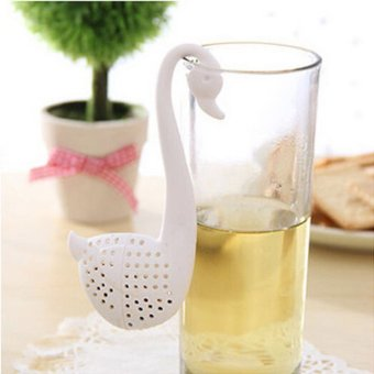 Harga Okdeals 2Pcs Colander Swan Infuser Tea Herb Spice Strainer Teaspoon Filter White