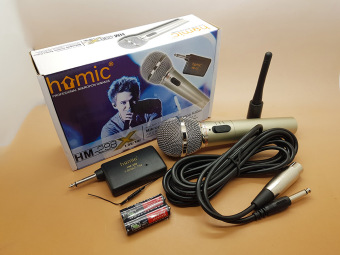 Harga Microphone Single Wireless HOMIC HM-298