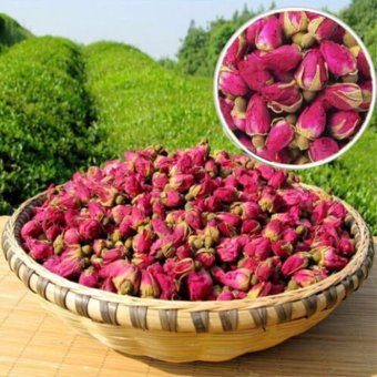 Harga 50g Organic Red Rosebud Rose Buds Flower Floral Herbal Dried Health Chinese Tea - intl