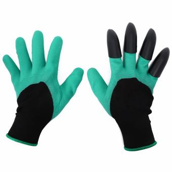 1 Pair Claws Design Latex Garden Work Gloves for Digging - intl