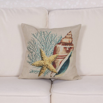HengSong Seaworld Series Sea Star Pillow Case Cover Home Sofa Decorative - intl