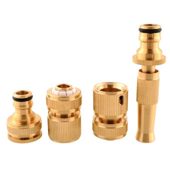 Harga Copper Connecting Pipe Brass Faucet Hose Water Pipe Tap Connectors 4-piece