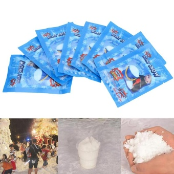 Harga Fake Magic Instant Snow Fluffy Super Absorbant Decorations For Christmas Wedding - intl