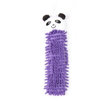 GH Home Ideas Hand Towel Microfiber Purple - Panda