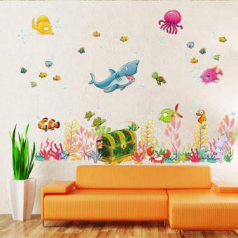 MC Sea Animal World Kids Room Wall Stickers Home Decor DIY Sticker - intl