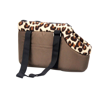 Harga Portable Leopard Pet Dog Puppy Cat Travel Outdoor Carrier Carry Bag Handbag - Size S (Coffee)