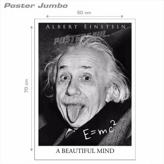 Harga Poster Jumbo: Albert Einstein a Beautiful Mind #AE01 - 50 x 70 cm